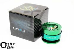 Nrg Steering Wheel Quick Release Gen 2.0 Green Body With Green Ring Srk-200gn