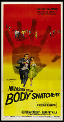 Invasion Of The Body Snatchers Kevin Mccarthy Don Siegel Sci-fi 1956 3-sheet