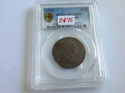 1770 Great Britain 1/2 D Pcgs Ms 63 Brown