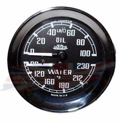 New Jaeger Dual Water Oil Gauge Mga Mgb 100 New Made In The Uk Jaeger