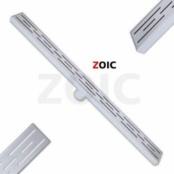 12and039and039-36and039and039 Linear Shower Drain Waste Water Fliter Grate Bath Floor File Bathroom