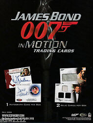 JAMES BOND IN MOTION ULTRA MASTER SET AUTOGRAPHS COSTUMES RELICS CASE INCENTIVES