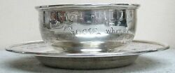 Wonderful 1903 Sterling Silver Mother Goose Nursery Rhyme Bowl And Under Dish