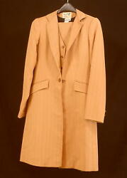 Reed Hill Saddleseat Suit 3 Piece Pumpkin Spice / Bronze Poly 14 - Made In Usa
