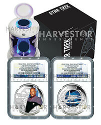 2015 Certified Silver Star Trek Two Coin Set - Ngc Pf70 First Releases - Sisko