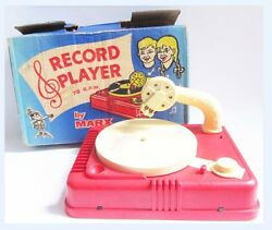 battery operated record player marx toys