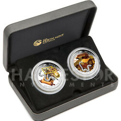 2013 Lunar Good Fortune 2-coin Set Silver Proof Snake – Only 1,500 - Sold Out
