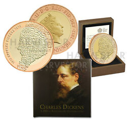 2012 Royal Mint Gold Andpound2 Charles Dickens Gold Proof - Only 202 Minted - Sold Out