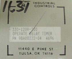 Time Mark Signal Line 330 120 V 300 S Operate Delay Timer 98a00322 04