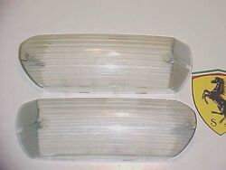 Ferrari 365 Directional Lamp Turn Signal Park Light Lenses CARELLO PAIR GT2+2 OE