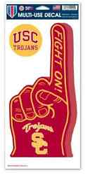 USC TROJANS #1 SIGN FINGER amp; 2ND DECAL AUTO CAR TRUCK DORM REFRIGERATOR