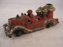 hubley cast iron metal toy car fire truck