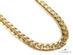 Mens Gold Chain 36inches 9mm Assorted Necklace Link 14k Yellow 180.00 grams