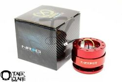 Nrg Steering Wheel Quick Release Gen 2.0 Red Body W/ Red Ring Srk-200rd