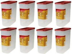 Rubbermaid 1776473 Racer Red 21 Cup Dry Food Storage Containers - 8 Pack