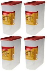 Rubbermaid 1776473 Racer Red 21 Cup Dry Food Storage Containers - Quantity 4