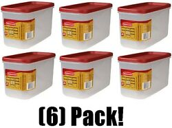 Rubbermaid 1776471 Racer Red 10 Cup Dry Food Plastic Storage Containers -6 Pack