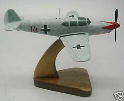 Nord 1101 Noralpha Airplane Desktop Kiln Dry Wood Model Large Free Shipping New