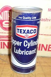 Vintage Old Texaco Upper Cylinder Lubricant 4 Oz Full Gas Oil Can