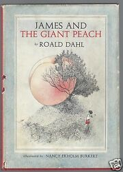 James And The Giant Peach By Roald Dahl 1961 First Edition 1st Printing Hc/dj