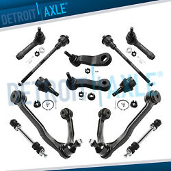 12pc Front Upper Control Arm Tie Rod Ball Joint Pitman Idler Arm 4x4 4wd 6-lug