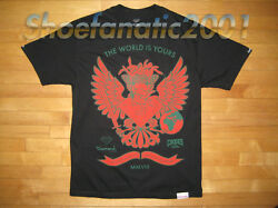 Diamond Supply Co Crooks And Castle The World Is Yours Shirt Black Green Eagle