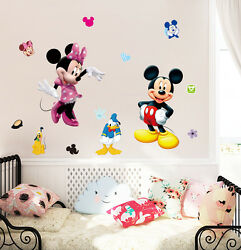 Disney 19quot; mickey amp; minnie mouse Removable Wall Stickers Decal Kids Home Decor