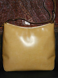 Salvatore Ferragamo.handbag.glossy Yellow Leather/p21 8185/pre Owned