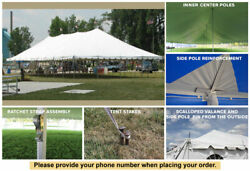 30x75 White Vinyl Classic Pole Tent for Wedding Outdoor Event Party Catering