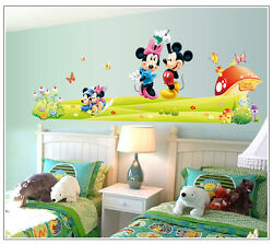 HUGE mickey amp; minnie mouse Removable Wall Stickers Decal Kids Home Decor