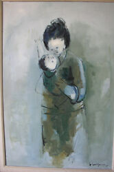 John Chin Young  painting MOTHER AND CHILD  43 12