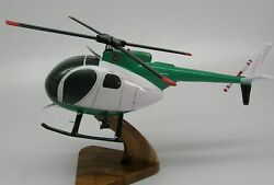 Hughes Oh-6a Cayuse Helicopter Desktop Kiln Dry Wood Model Large Free Shipping