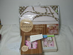 3 pc Decor Shoppe by Kids line Butterfly Night Light and Switch Plate Cover Pink