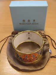 Halcyon Days - Charlotte Moss Collection - Marrakesh Enamel Bangle - In Stock