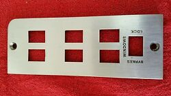 1965 Lincoln Continental Sedan Or Convertible Drivers Side Window Switch Plate