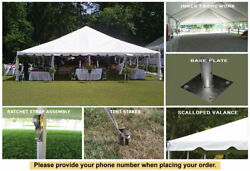 40x40 White Classic Series Frame Tent White Party Tent