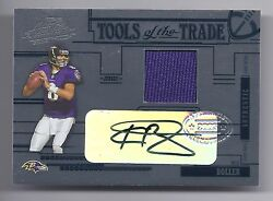2005 Absolute Football Kyle Boller Tools Of The Trade Ravens Auto/jsy Card 06/50