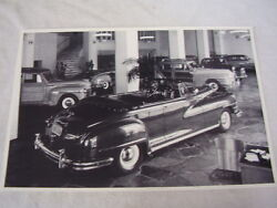 1947 Chrysler Conv In Show Room 12 X 18 Large Picture /photo Shows Woodys Too