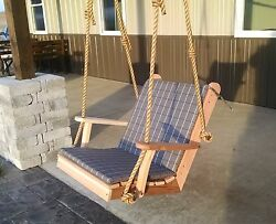 2ft Western Red Cedar Outdoor Traditional Chair Swing Amish Made-8 Stain Options