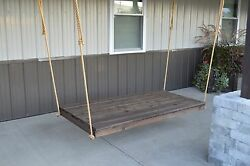 75 Inch Western Red Cedar Newport Bed Rope Included Amish Made - 8 Stain Options