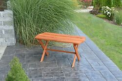 Western Red Cedar Outdoor Folding Coffee Table Amish Made Usa - 8 Stain Options
