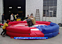 18x18 Commercial Inflatable Mechanical Bull Riding Rodeo Cowboy Game We Finance
