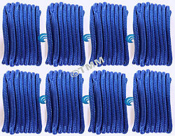 8 Blue Double Braided 3/8 X 15' Hq Boat Dock Anchor Mooring Lines Tow Ropes