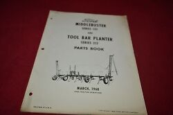 Ford Tractor 135 Middlebuster 315 Tool Bar Planter Parts Book Manual Dcpa5