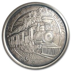 Hobo Nickel Series The Train 1 oz .999 Silver Antiqued Finish Round USA Coin