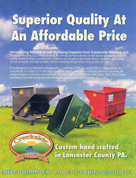 Dump Hoppers For Forklifts- 1-1/2 Yd.6000 Capacity