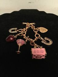 Juicy Couture Charm Bracelet With 5 Limited Edition Charms Horseshoe Strawberry