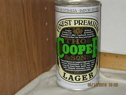 Imported Cooper And Sons Lager Leabrook Australia 1 Pt 9 Oz Steel Beer Can Oil Can