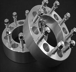 2 Pc Chevy 88-10 C3500 Billet 8x6.50 Wheel Spacer Adapter 3.00 Inch 8650i1415