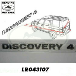 Land Rover Black Rear Tail Gate Plate Decal Badge Discovery 4 Lr4 Lr043107 Oem